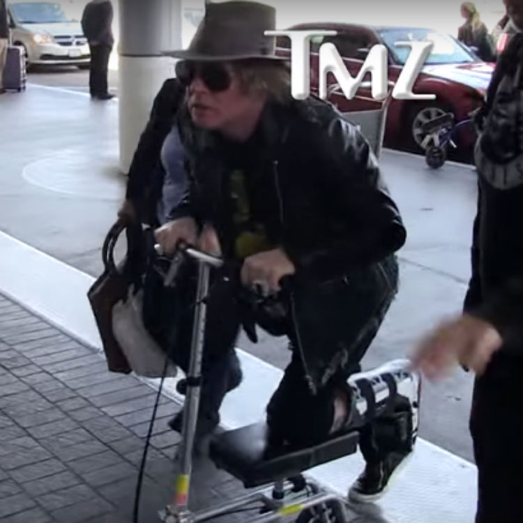 Axl Rose awkward Guns N Roses reunion tour interview, AC/DC, scooter