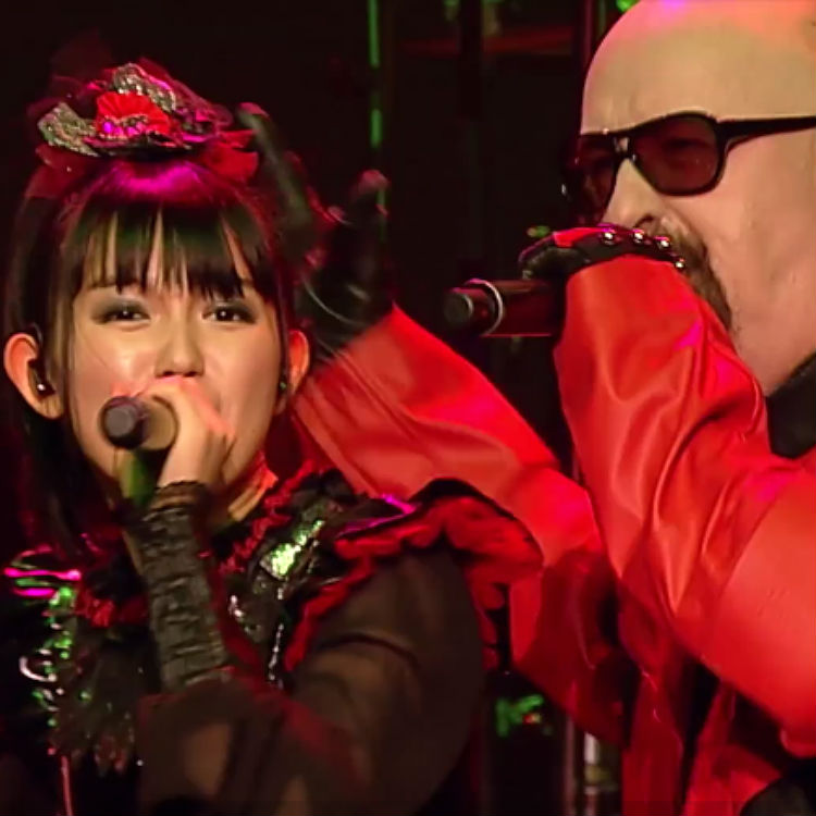 Karate stars Babymetal tour joined by Judas Priests' Rob Halford video