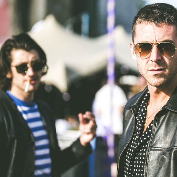 Alex Turner and Miles Kane dance at The Strokes Hyde Park