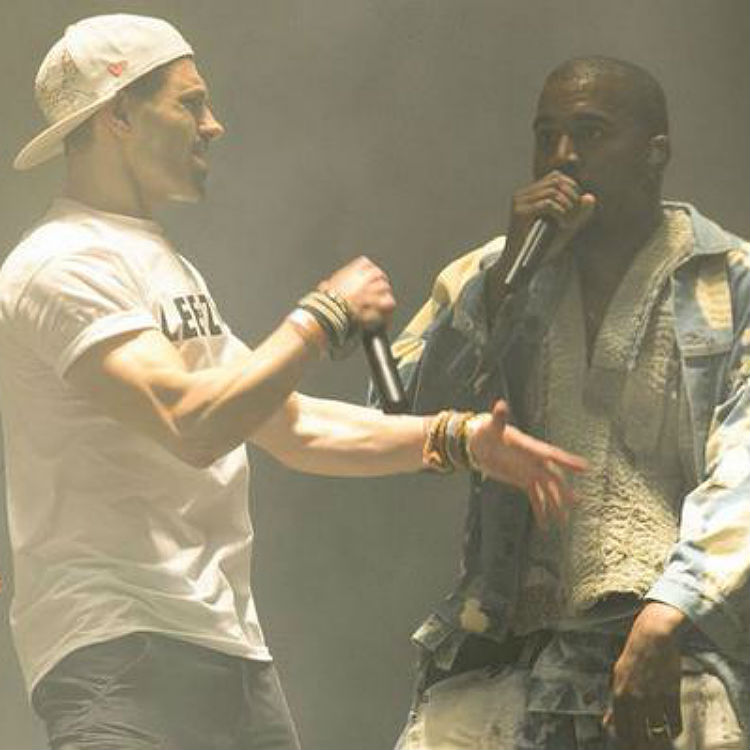 Lee Nelson stage invades Kanye West at Glastonbury, watch video