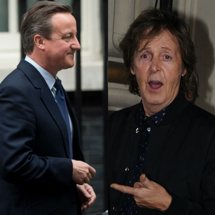 David Cameron recreates Abbey Road Twitter revenge ToryBeatlesSongs