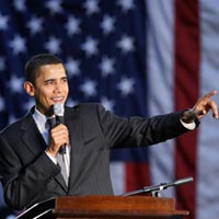 Barack Obama Holds Biggest Rally Of Democratic Campaign