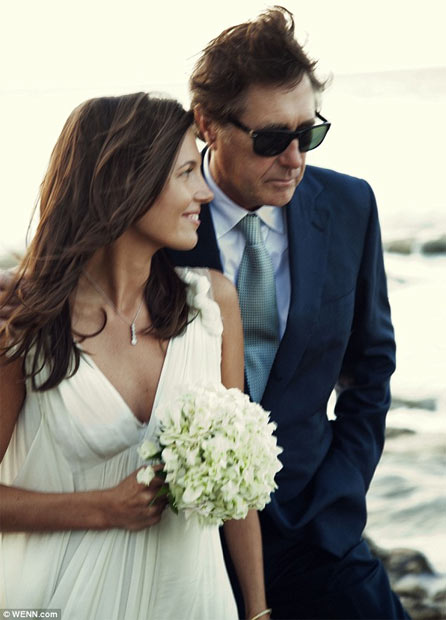 bryan ferry marries girlfriend 37 years his junior in the