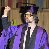 Pulp's Jarvis Cocker Collects Honorary Degree In London