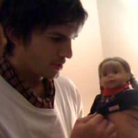 Ashton Kutcher Recreates Michael Jackson Baby Dangling