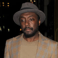 Will.i.am attends climate change talk in helicopter