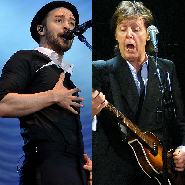 Justin Timberlake & Paul McCartney debut new tracks at iHeartRadio festival
