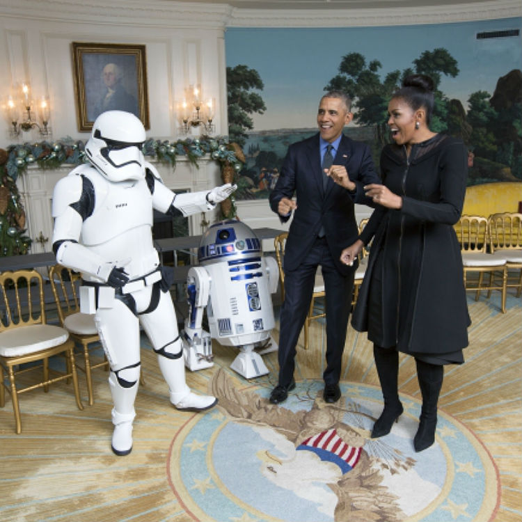 Barack Obama, act your age - stop dancing with Storm Troopers - Uptown