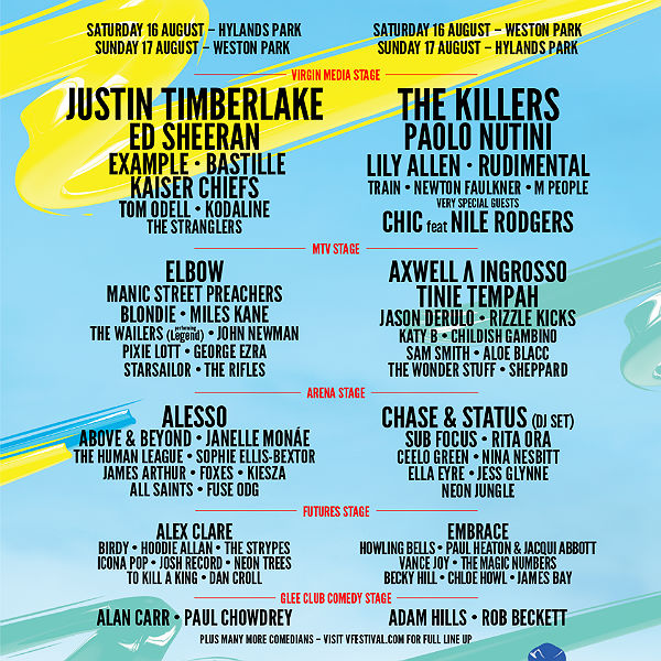 V festival add James Arthur and more, announce more stage-splits