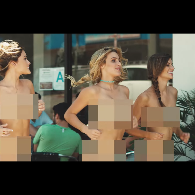 Blink-182 recreate classic video with naked women