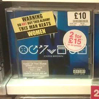 HMV denies involvement with 'women beater' Chris Brown album labels
