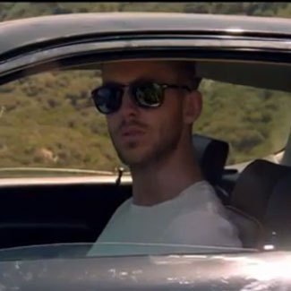 Calvin Harris, Example break luxury cars on video shoot