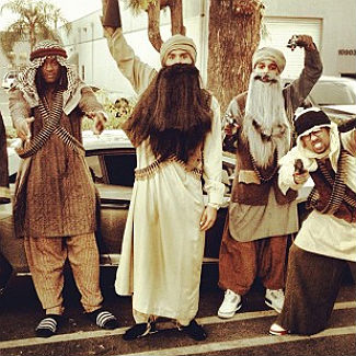 Photos: Chris Brown dresses as Taliban terrorist for Halloween