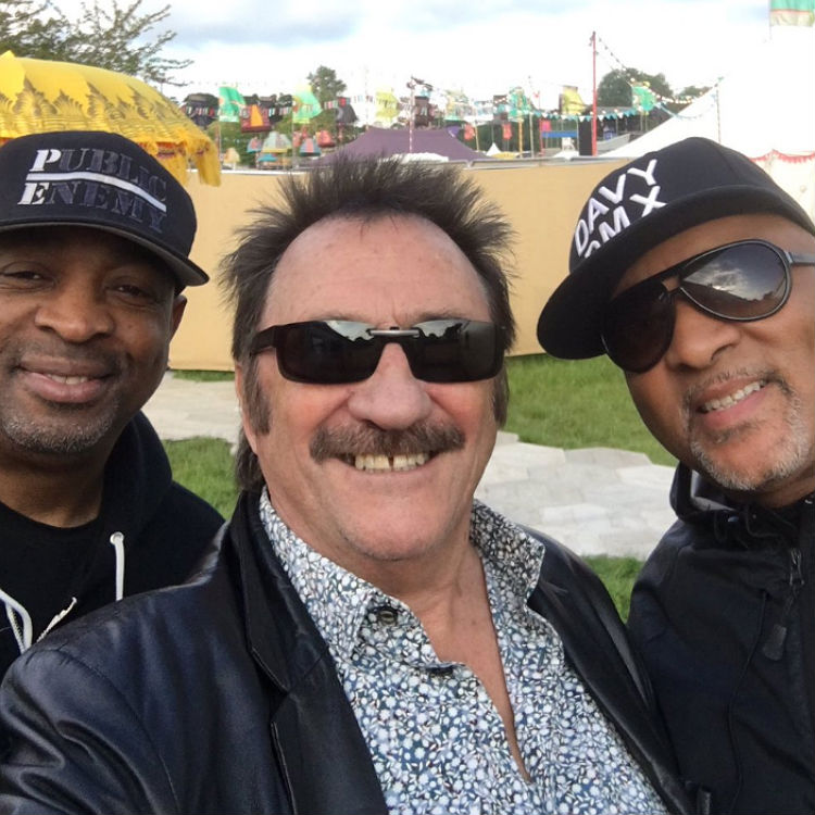 Paul Chuckle Twitter selfie with Craig David and Public Enemy