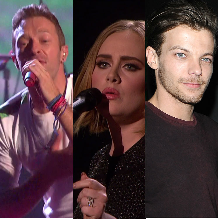 Adele, One Direction Coldplay perform live X Factor UK Finale louisa