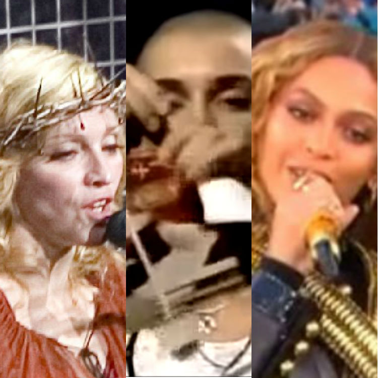 Musicians controversial political statements on stage, Madonna Beyonce