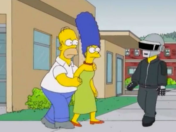 Daft Punk appeared on an episode of The Simpsons this year.  u0027 & Daft Punk thank their robot alter-egos for ongoing success | Gigwise