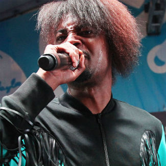 Fan performs oral sex on rapper Danny Brown on stage during US gig