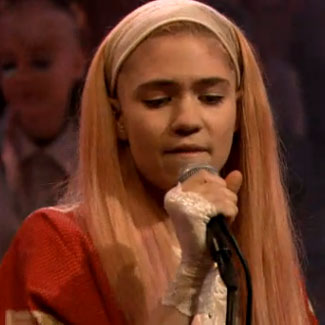 Grimes makes her US TV debut - watch