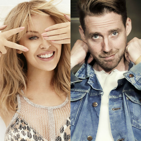 Photo: Ricky Wilson and Kylie Minogue in spinning chairs on The Voice
