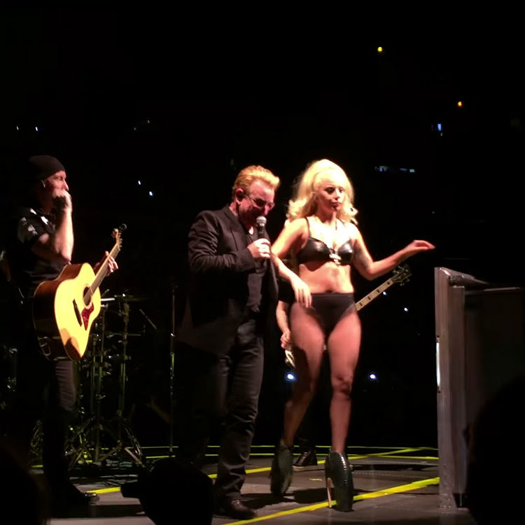 Lady Gaga and U2 perform Ordinary Love at Madison Square Garden