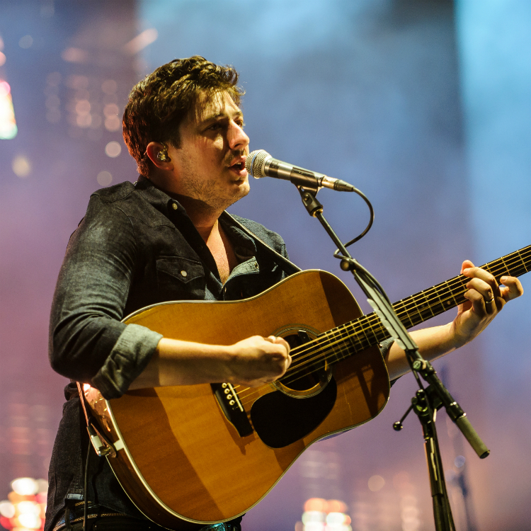 marcus mumford plays with the maccabees onstage