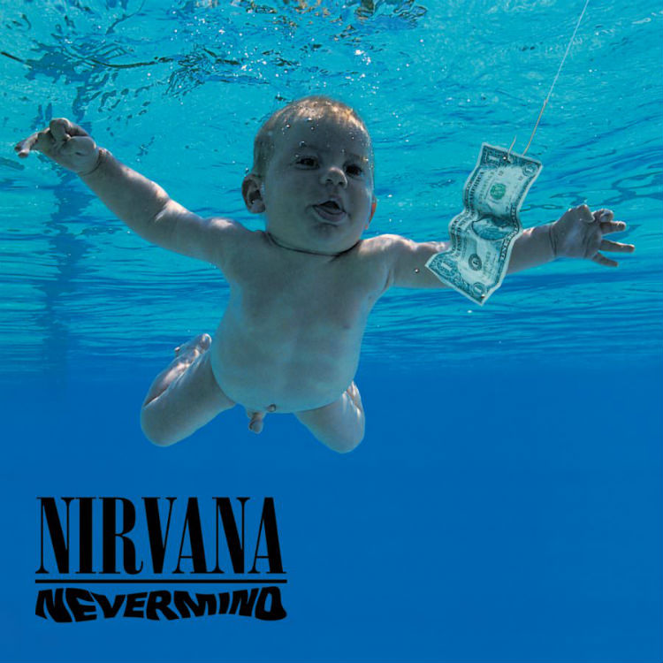 Nirvana Nevermind cover recreate 25th anniversary Kurt Cobain