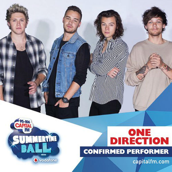 One Direction to perform at Capital FM Summertime Ball - tickets