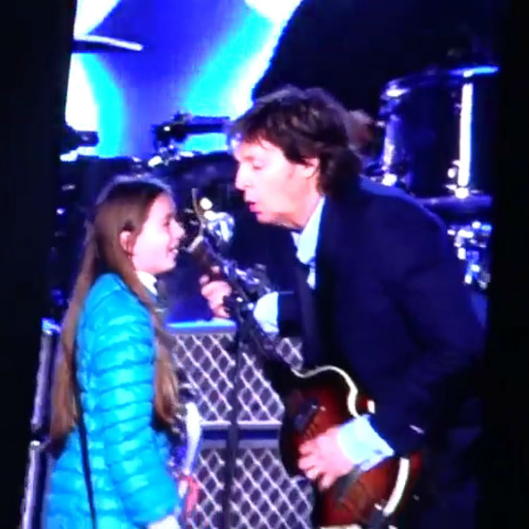 This 10-year-old girl just played 'Get Back' on bass with Paul McCartney