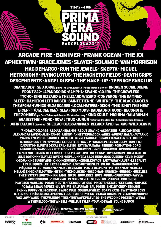Also on sale are the vip primavera sound 2017 barcelona full festival