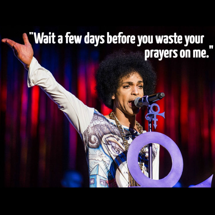 Prince and other musicians' final last words before death