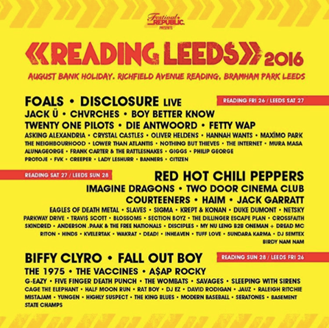 reading leeds announce double headliner loads more names gigwise. Black Bedroom Furniture Sets. Home Design Ideas