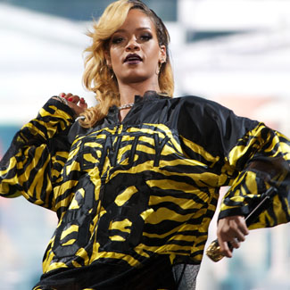 Rihanna returns to rain-drenched London for Wireless performance
