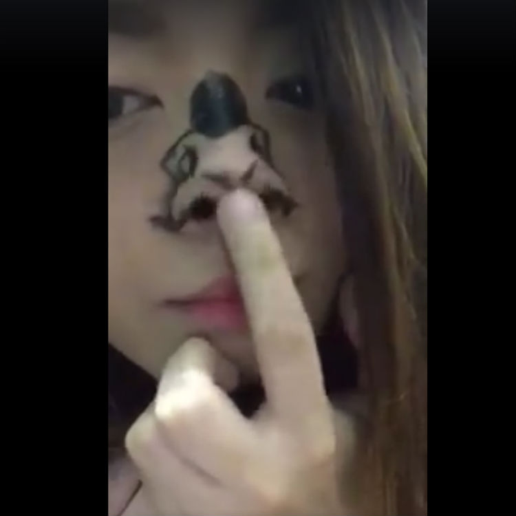 Rihanna Work and lyrics performed by girl's nose video goes viral