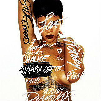 Rihanna goes topless on new album cover, Unapologetic