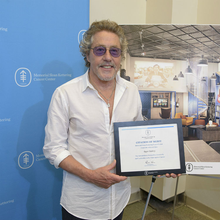 Roger Daltrey launches young adult lounge at Memorial Sloan Kettering