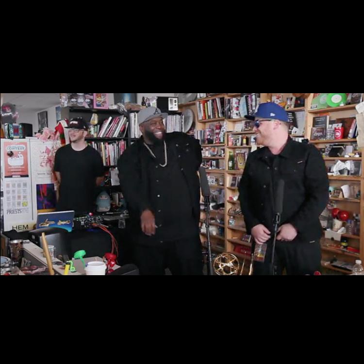 Watch Run The Jewels perform an NPR Tiny Desk session