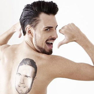 Photo: X Factor Rylan tattooed with Gary Barlow's face