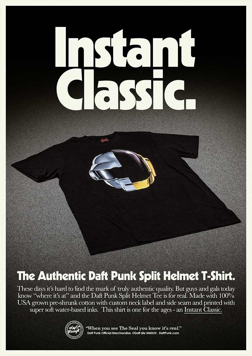 Daft punk unveil brand new line of awesome merchandise for Newspaper t shirt designs