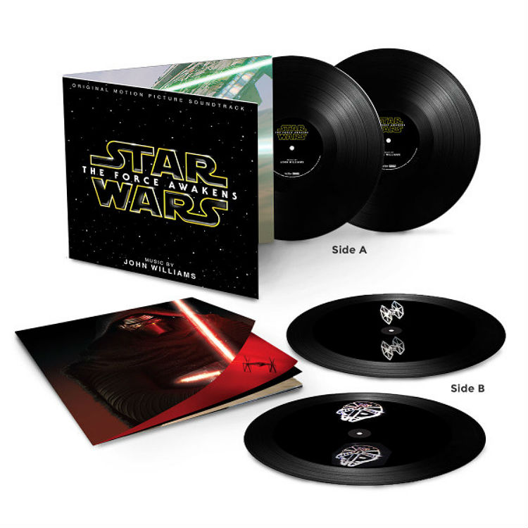 Star Wars Force Awakens full movie soundtrack vinyl features holograms