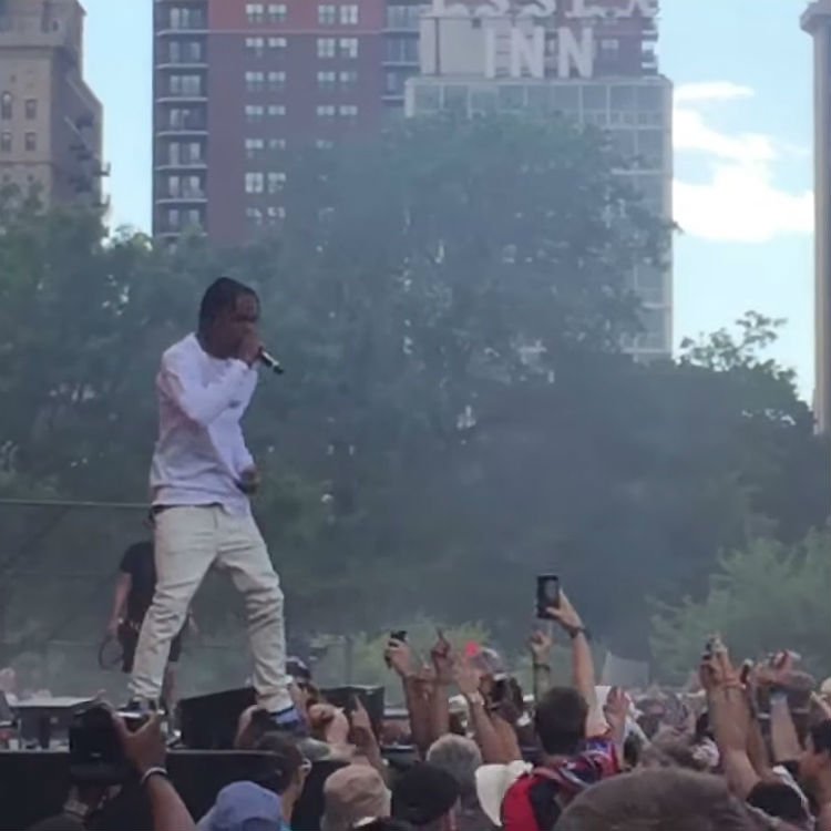 Travis Scott arrested at Lollapalooza for inciting crowd to riot