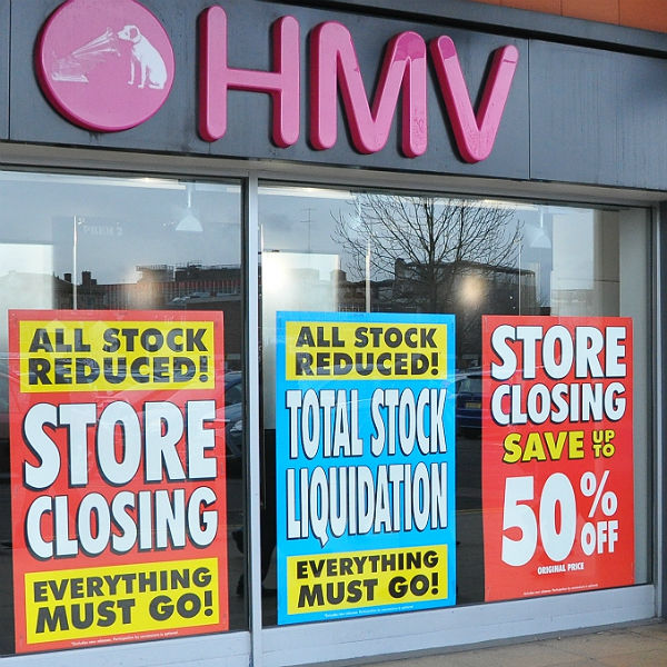 HMV announce £16.7m profit less than 2 years after going under