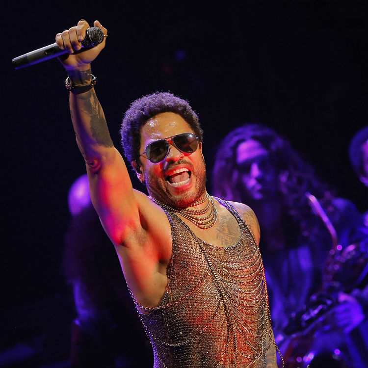 Lenny Kravitz penis comes out on stage - wardrobe malfunction photos