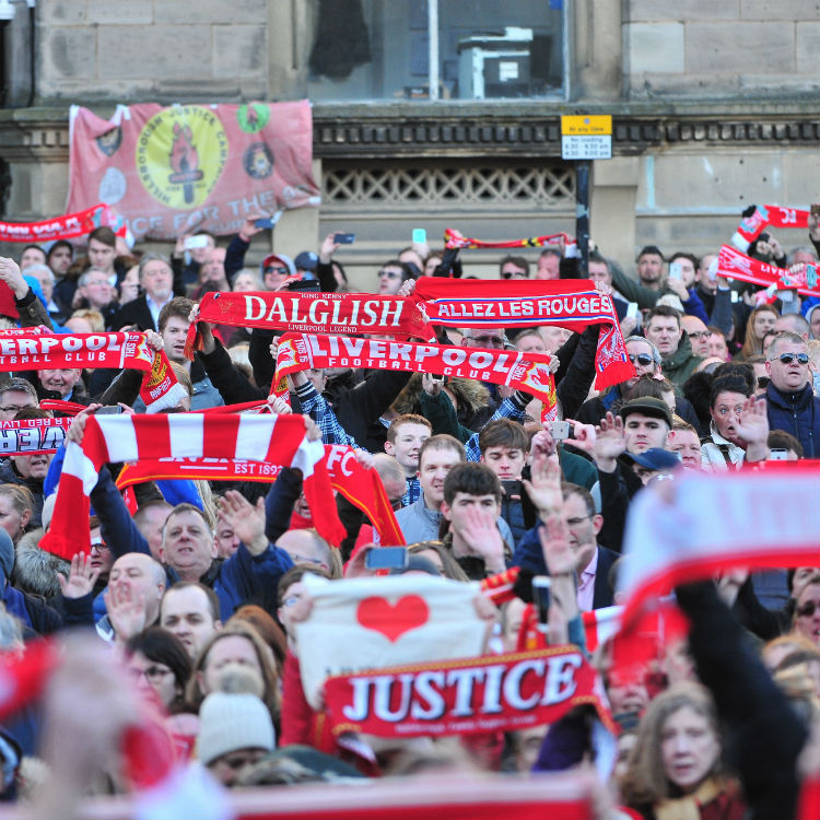 Hillsborough disaster victims remembered with Liverpool FC anthem