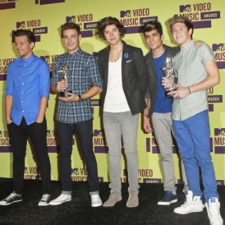 One Direction make it in America, band win two awards at MTV VMAs 2012