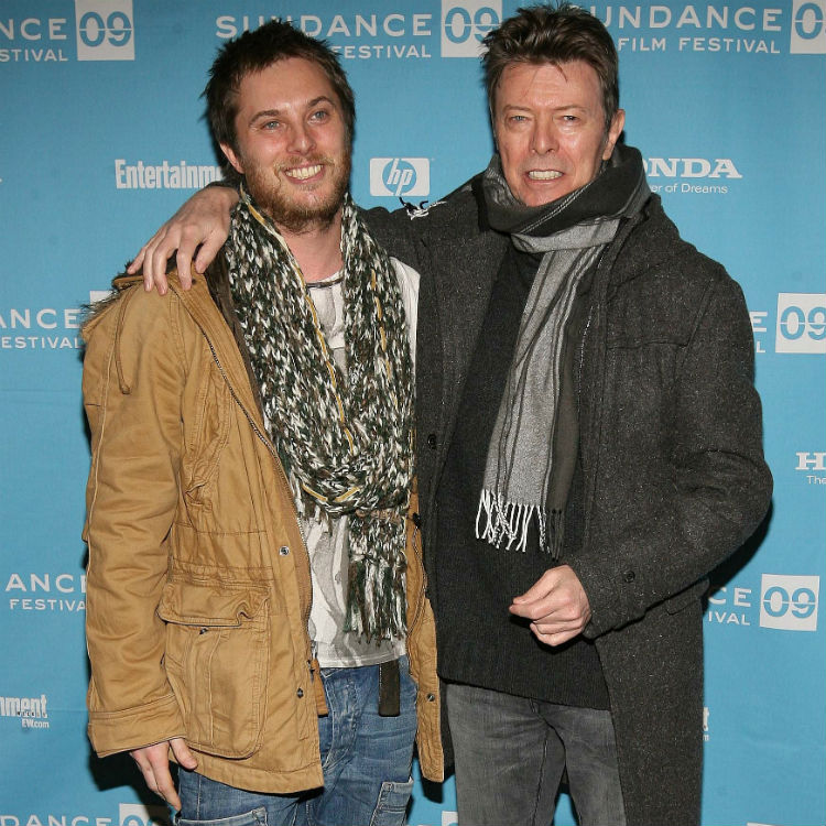 David Bowie's son Duncan Jones announces child to card to dad, funeral