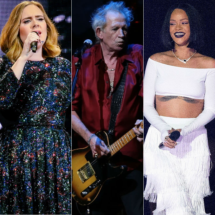 Keith Richards slams Adele + Rihanna: 'They can't rely on themselves'