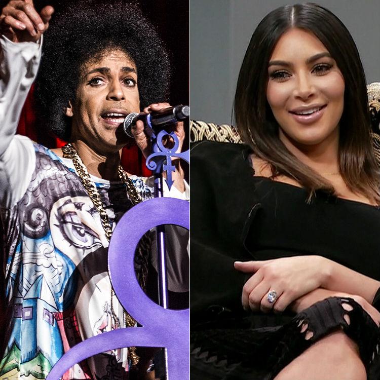 Prince kicks Kim Kardashian off stage at live gig - watch video