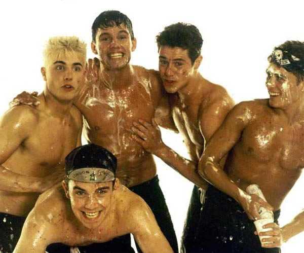 Just five men covering each other in whipped cream. No homo.