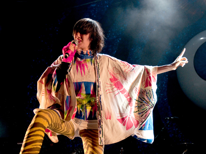 Karen O: The frontwoman of New York band The Yeah Yeah Yeahs is not only a musical icon, but she also contributed a selection of animal noises to numerous tracks on the Flaming Lips'' album, Embryonic. Awesome.